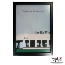 Into the Wild 46x34cm moldura preta