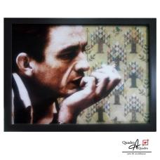 Johnny Cash 46x34cm moldura preta